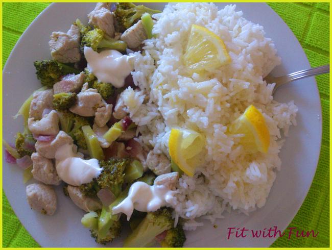 Riso Freddo Pollo e Broccoli