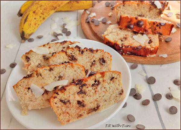 Banana Bread Senza Glutine Cocco e Cioccolato