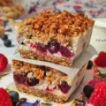 Cheesecake Bars Lamponi e Mirtilli Low Carb