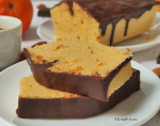 Plumcake Semolino e Arancia ricoperto di Cioccolato
