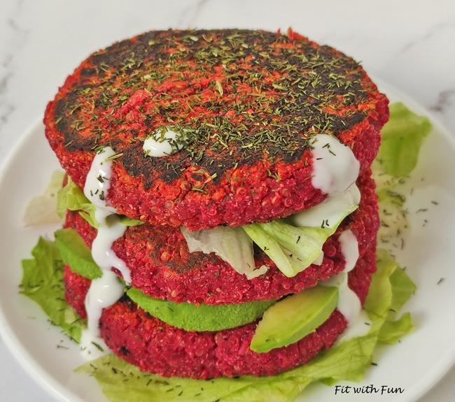 Burgers Quinoa Barbabietola e Ceci Vegan Senza Glutine