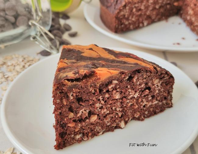 Torta Cacao e Avena Marmorizzata al Burro di Arachidi