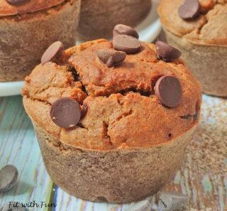 Muffin al Burro di Arachidi Vegan Senza Glutine Senza Zucchero