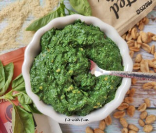 Pesto Spinaci Basilico e Arachidi Vegan e Senza Glutine