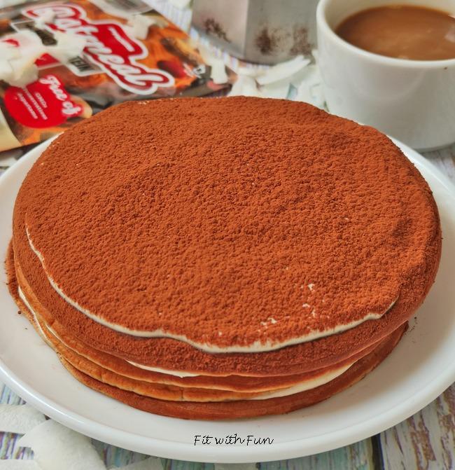 Tiramisù Pancakes al Cocco e Caffè Fit Light Proteici