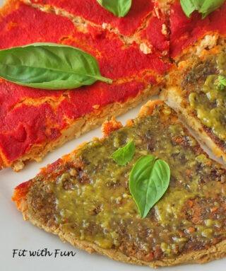 Pizza di Tofu 3 Ingredienti Vegan Proteica e Senza Glutine