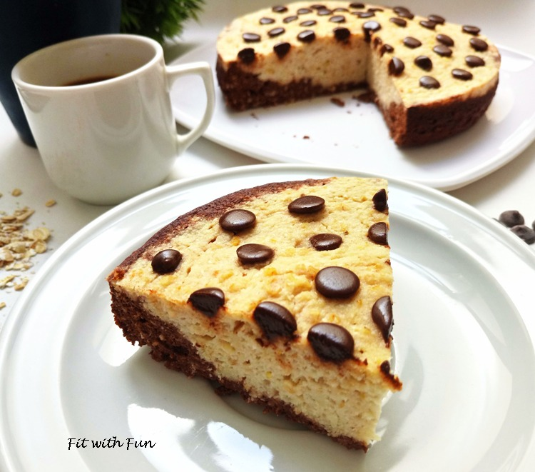 Torta MugCake Bicolore Cocco Cacao e Cioccolato Proteica