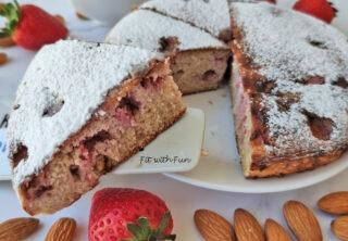 Torta di Fragole in Padella Keto Low Carb Senza Glutine Senza Zucchero