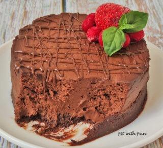 Keto Cheesecake al Cioccolato Senza Zucchero e Senza Cottura