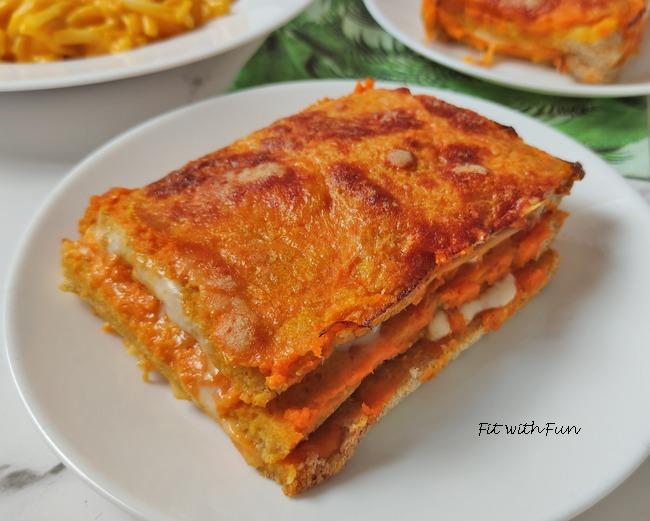 Lasagna di Pancarrè con Crema di Zucca Fesa e Formaggio