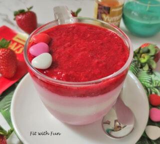 Coppa Fior di Fragola Yogurt e Avena Proteica e Senza Cottura