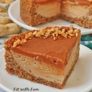 Cheesecake al Caramello Salato Senza Zucchero e Senza Burro