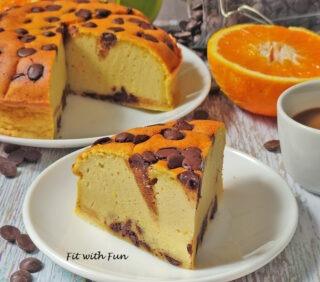 Torta Light Ricotta Arancia e Cioccolato Senza Zucchero Glutine e Burro