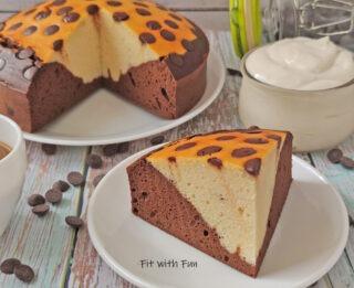 Torta Bicolore Light Ricotta Cacao e Vaniglia Senza Zucchero